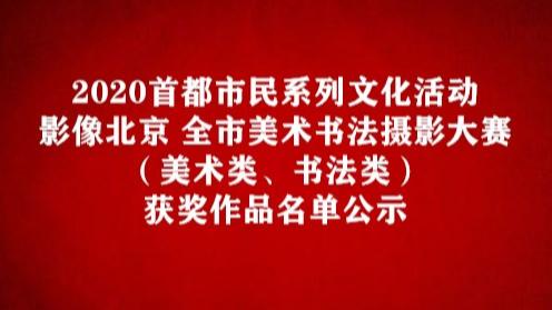 2020首都市民系列文化活動——影像北京 全市美术书法摄影大赛(美术类、书法类) 获奖作品名单公示